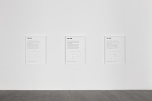 Installation view with Piero Golia, Still Life (Lithograph) (2020) Artwork © Piero Golia. Photo: Lucy Dawkins