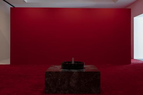 Installation view with Piero Golia, Still Life (Rotating device) (2019) Artwork © Piero Golia. Photo: Lucy Dawkins