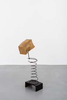 Rudolf Polanszky, Archeology / Spiral Sculpture, 2020 Foam, pigments, metal wire, and silicone on metal stand, 25 ⅞ × 11 × 7 ⅞ inches (65.5 × 28 × 20 cm)© Rudolf Polanszky. Photo: Jorit Aust