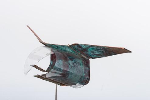 Rudolf Polanszky, Archeology / Archaic Fragments, 2020 (detail) Copper, acrylic glass, and silicone on metal stand, 23 ⅝ × 26 ⅝ × 7 ⅛ inches (60 × 67.5 × 17.9 cm)© Rudolf Polanszky. Photo: Jorit Aust