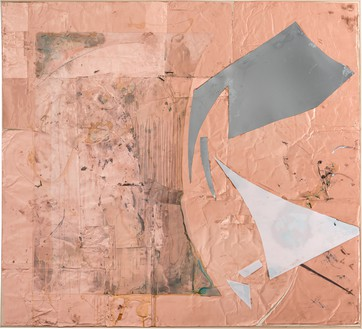 Rudolf Polanszky, Reconstructions / Choros, 2020 Copper foil, resin, silicone, acrylic glass, mirror foil, and pigment on wood, in artist's frame, 61 ⅞ × 68 inches (157.1 × 172.5 cm)© Rudolf Polanszky. Photo: Jorit Aust