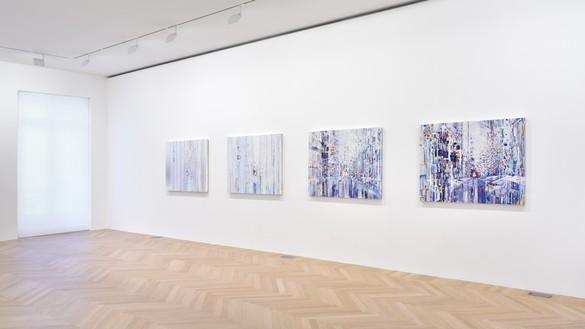 Installation view with Sarah Sze, Quartet (Mondrian Suite) (2019) Artwork © Sarah Sze. Photo: Rebecca Fanuele