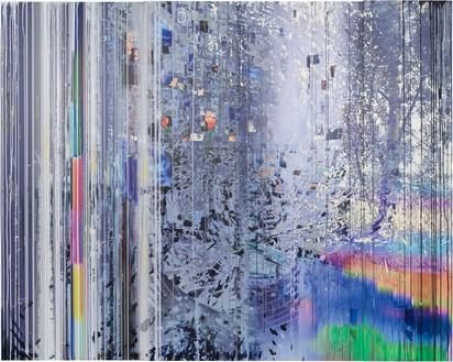 Sarah Sze, Blind Spot (Times Zero), 2020 Oil, acrylic, acrylic polymers, ink, aluminum, diabond, and wood, 103 ¼ × 129 inches (262.3 × 327.7 cm)© Sarah Sze. Photo: Rob McKeever