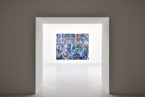 Installation view with Sarah Sze, Ripple (Times Zero) (2020) Artwork © Sarah Sze. Photo: Rebecca Fanuele