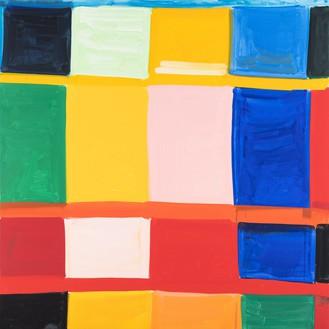 Stanley Whitney, Bertacca 4, 2019 Oil on linen, 72 × 72 inches (182.9 × 182.9 cm)© Stanley Whitney. Photo: Giorgio Benni