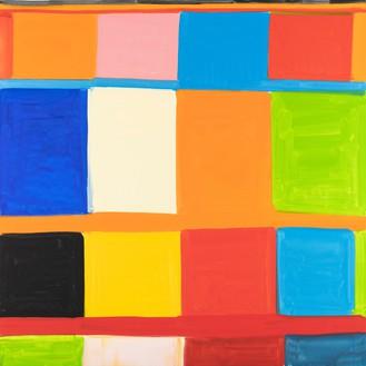 Stanley Whitney, Bertacca 3, 2019 Oil on linen, 72 × 72 inches (182.9 × 182.9 cm)© Stanley Whitney. Photo: Giorgio Benni