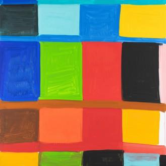 Stanley Whitney, Bertacca 2, 2019 Oil on linen, 72 × 72 inches (182.9 × 182.9 cm)© Stanley Whitney. Photo: Giorgio Benni