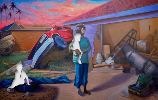 Titus Kaphar, The Aftermath, 2020 Oil on canvas, 114 × 180 inches (289.6 × 457.2 cm)© Titus Kaphar