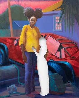Titus Kaphar, Beneath an unforgiving sun, 2020 Oil on canvas, 83 ¾ × 68 inches (212.7 × 172.7 cm)© Titus Kaphar