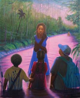 Titus Kaphar, Final Chapter, 2020 Oil on canvas, 83 ¾ × 68 inches (212.7 × 172.7 cm)© Titus Kaphar