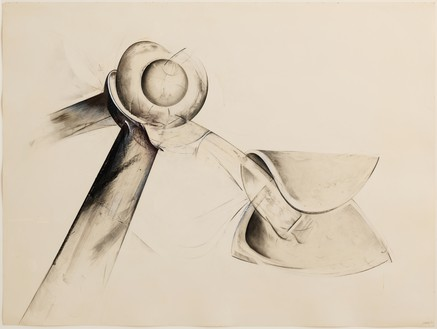 Jay DeFeo, Untitled (Shoetree series), 1977 Graphite, charcoal, and acrylic on paper, 30 ¼ × 40 inches (76.8 × 101.6 cm)© 2020 The Jay DeFeo Foundation/Artists Rights Society (ARS), New York. Photo: Robert Divers Herrick
