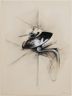 Jay DeFeo, Untitled (Jewelry series), 1977 Acrylic, charcoal, graphite, and ink on paper, 20 × 15 inches (50.8 × 38.1 cm)© 2020 The Jay DeFeo Foundation/Artists Rights Society (ARS), New York. Photo: Robert Divers Herrick