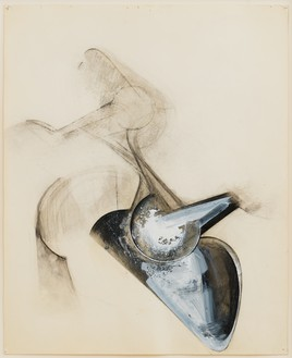 Jay DeFeo, Untitled (Shoetree series), 1977 Graphite, acrylic, and charcoal on paper, 16 × 13 inches (40.5 × 33 cm)© 2020 The Jay DeFeo Foundation/Artists Rights Society (ARS), New York. Photo: Robert Divers Herrick