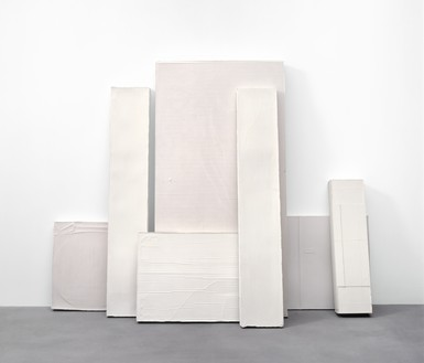 Rachel Whiteread, LEAN, 2005 Plaster, in 7 parts, overall: 79 ⅛ × 97 ⅝ × 26 inches (201 × 248 × 66 cm)© Rachel Whiteread