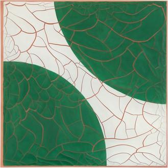 Adriana Varejão, Green Disks, 2020 Oil and plaster on canvas, 70 ⅞ × 70 ⅞ inches (180 × 180 cm)© Adriana Varejão. Photo: Vicente de Mello