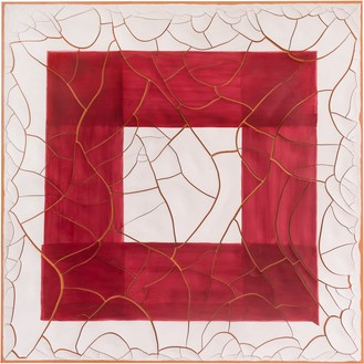 Adriana Varejão, Red Square, 2020 Oil and plaster on canvas, 70 ⅞ × 70 ⅞ inches (180 × 180 cm)© Adriana Varejão. Photo: Vicente de Mello