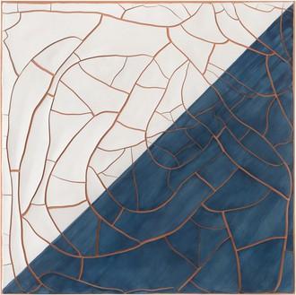 Adriana Varejão, Blue and White Talavera Tile, 2020 Oil and plaster on canvas, 70 ⅞ × 70 ⅞ inches (180 × 180 cm)© Adriana Varejão. Photo: Vicente de Mello