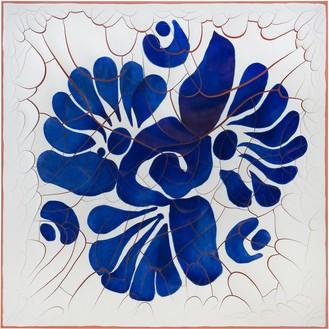 Adriana Varejão, Talavera Flower, 2020 Oil and plaster on canvas, 70 ⅞ × 70 ⅞ inches (180 × 180 cm)© Adriana Varejão. Photo: Vicente de Mello