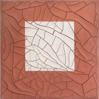 Adriana Varejão, Cuadrado Blanco (White Square), 2020 Oil and plaster on canvas, 70 ⅞ × 70 ⅞ inches (180 × 180 cm)© Adriana Varejão. Photo: Vicente de Mello