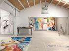 Albert Oehlen's studio, Ispaster, Spain, 2020