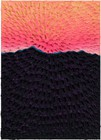 Jennifer Guidi, Light on the Mountain (Painted Green Sand #7A, Light Pink-Pink-Orange-Yellow Sky, Dark Purple-Blue Mountain, Green Ground), 2020