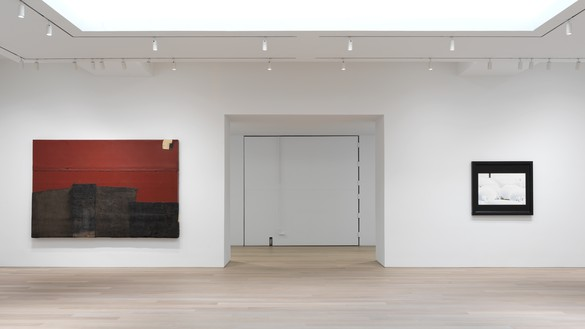 Installation view Artwork, left to right: © Theaster Gates, © Neil Jenney. Photo: Rob McKeever