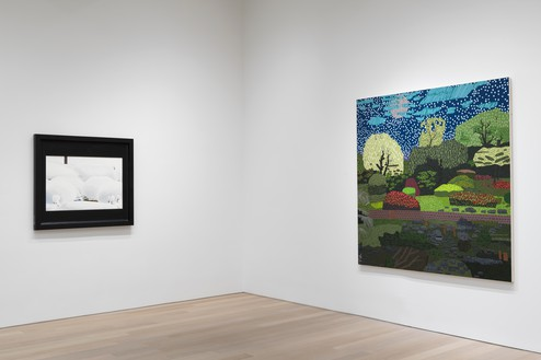 Installation view Artwork, left to right: © Neil Jenney, © Jonas Wood. Photo: Rob McKeever