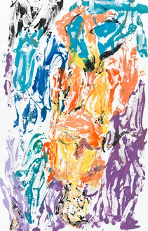 Georg Baselitz, Non lesso, ma duro, 2020 Oil on canvas, 118 ⅛ × 75 ⅝ inches (300 × 192 cm)© Georg Baselitz