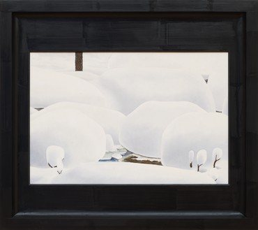 Neil Jenney, North America Depicted, 2009–10 Oil on wood, in painted wood artist's frame, 41 × 46 × 3 ½ inches (104.1 × 116.8 × 8.9 cm)© Neil Jenney