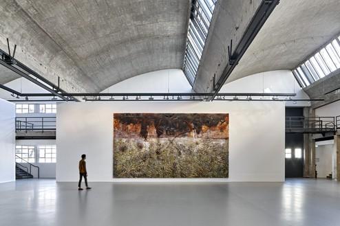 Installation view with Anselm Kiefer, Sichelschnitt (Sickle Cut) (2019) Artwork © Anselm Kiefer. Photo: Thomas Lannes