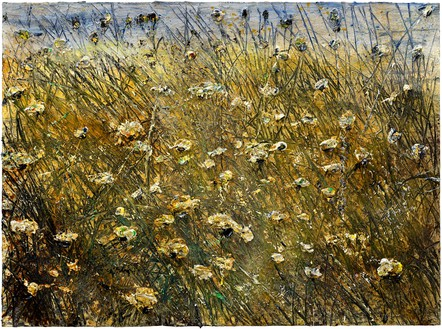 Anselm Kiefer, Feld (Field), 2019–20 Emulsion, oil, and acrylic on canvas, 110 ¼ × 149 ⅝ inches (280 × 380 cm)© Anselm Kiefer. Photo: Georges Poncet