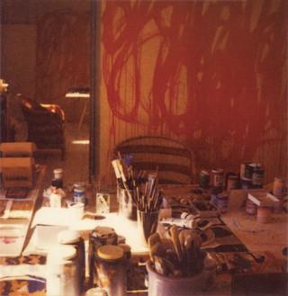 Cy Twombly, Studio with Bacchus Painting, Gaeta, 2005 Color dry-print, edition of4© Fondazione Nicola Del Roscio