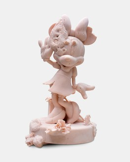 Damien Hirst, Minnie, 2020 Pink marble, 39 ⅝ × 22 ⅞ × 22 ⅞ inches (100.5 × 58 × 58 mm), edition of 3 + 2 AP© Damien Hirst and Science Ltd. All rights reserved, DACS 2021. Photo: Lucio Ghilardi/Prudence Cuming Associates