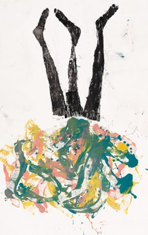 Georg Baselitz, Kiki, 2020 Oil on canvas, 82 ¾ × 52 inches (210 × 132 cm)© Georg Baselitz. Photo: Jochen Littkemann