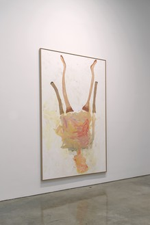 Installation view with Georg Baselitz, Lady Art Painting II (2020) Artwork © Georg Baselitz. Photo: Rob McKeever