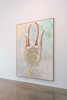 Installation view with Georg Baselitz, Lady Art Painting I (2020) Artwork © Georg Baselitz. Photo: Rob McKeever