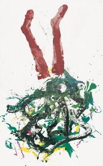 Georg Baselitz, Braun, 2020 Oil on canvas, 82 ¾ × 52 inches (210 × 130 cm)© Georg Baselitz. Photo: Jochen Littkemann