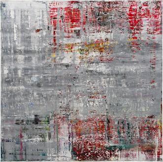 Gerhard Richter, Cage 4, 2006 Oil on canvas, 114 ¼ × 114 ¼ inches (290 × 290 cm)© Gerhard Richter 2020 (05102020)