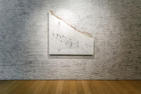 Installation view with Giuseppe Penone, Corpo di pietra—rami (Body of Stones—Branches) (2016) Artwork © 2021 Giuseppe Penone/Artists Rights Society (ARS), New York/ADAGP, Paris. Photo: Paris Tavitian