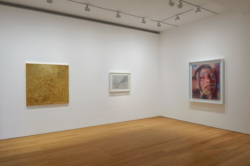 Installation view Artwork, left to right: © Rudolf Stingel, © Cy Twombly Foundation, © Jenny Saville