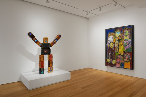 Installation view Artwork, left to right: © Nam June Paik Estate, © Richard Prince