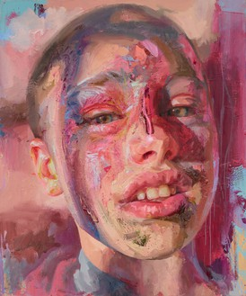 Jenny Saville, Title to be confirmed, 2021 Oil on canvas, 47 ¼ × 39 ⅜ inches (120 × 100 cm)© Jenny Saville