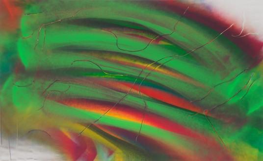Katharina Grosse, Untitled, 2021 Acrylic on canvas, 115 × 186 ⅝ inches (292 × 474 cm)© Katharina Grosse and VG Bild-Kunst, Bonn, Germany 2021. Photo: Jens Ziehe
