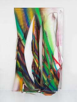 Katharina Grosse, Untitled, 2021 Acrylic on canvas, 141 ⅜ × 84 ⅝ × 37 ⅜ inches (359 × 215 × 95 cm)© Katharina Grosse and VG Bild-Kunst, Bonn, Germany 2021. Photo: Jens Ziehe