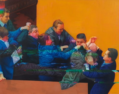 Kon Trubkovich, Golden Ratio (Orange), 2021 Oil on canvas, 79 × 100 inches (200.7 × 254 cm)© Kon Trubkovich. Photo: Rob McKeever