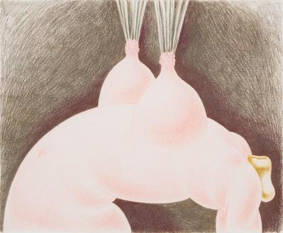 Louise Bonnet, Heroica, 2021 Colored pencil on paper, 14 × 17 inches (35.6 × 43.2 cm)© Louise Bonnet. Photo: Jeff McLane