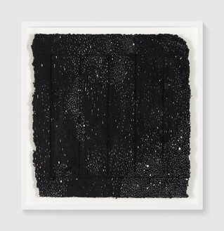 Rachel Whiteread, Untitled (Night Drawing), 2018 Gouache and ink on papier-mâché, 26 × 25 ¼ inches (66 × 64 cm)© Rachel Whiteread. Photo: Prudence Cuming Associates