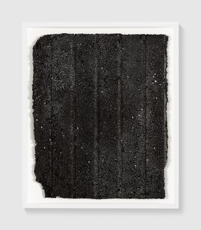 Rachel Whiteread, Untitled (Night Drawing), 2018 Gouache and ink on papier-mâché, 30 ¾ × 25 ⅝ inches (78 × 65 cm)© Rachel Whiteread. Photo: Prudence Cuming Associates