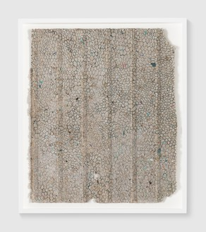Rachel Whiteread, Untitled, 2018 Ink on papier-mâché, 30 ¾ × 26 ⅜ inches (78 × 67 cm)© Rachel Whiteread. Photo: Prudence Cuming Associates