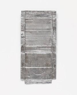 Rachel Whiteread, Untitled (Silver Relief), 2020–21 Lacquered silver, 19 ¾ × 9 ⅝ inches (50.2 × 24.3 cm)© Rachel Whiteread. Photo: Prudence Cuming Associates